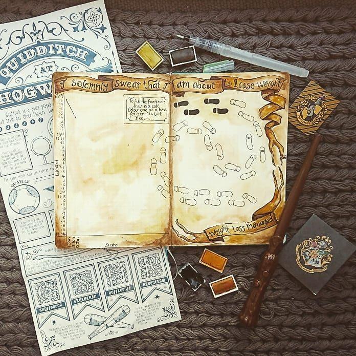 Harry Potter Bullet Journal Ideas Harry Potter Journal Harry Potter Planner Bullet Journal Themes