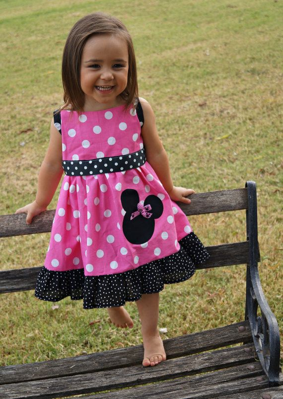 Minnie Mouse Dress Mickey Mouse Dress Birthday by SwannontheFarm