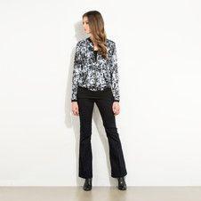 Gebloemde blouse met rits  - in de Mexx Online Shop Nederland