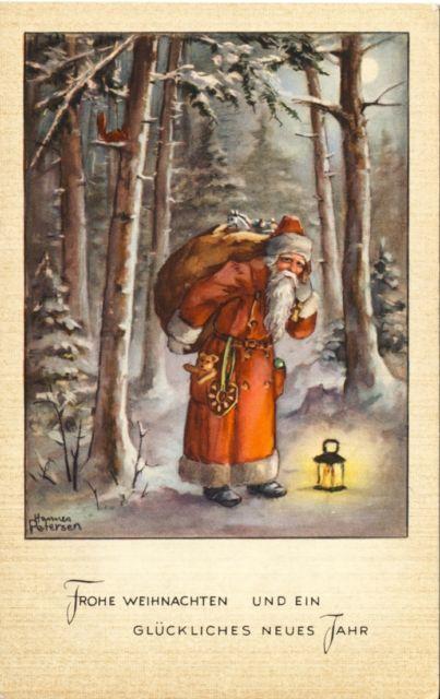 AK.Künstlerkarte Hannes Petersen, Weihnachten-Neujahr: Weihnachtsmann | eBay                                                                                                                                                                                 Mehr
