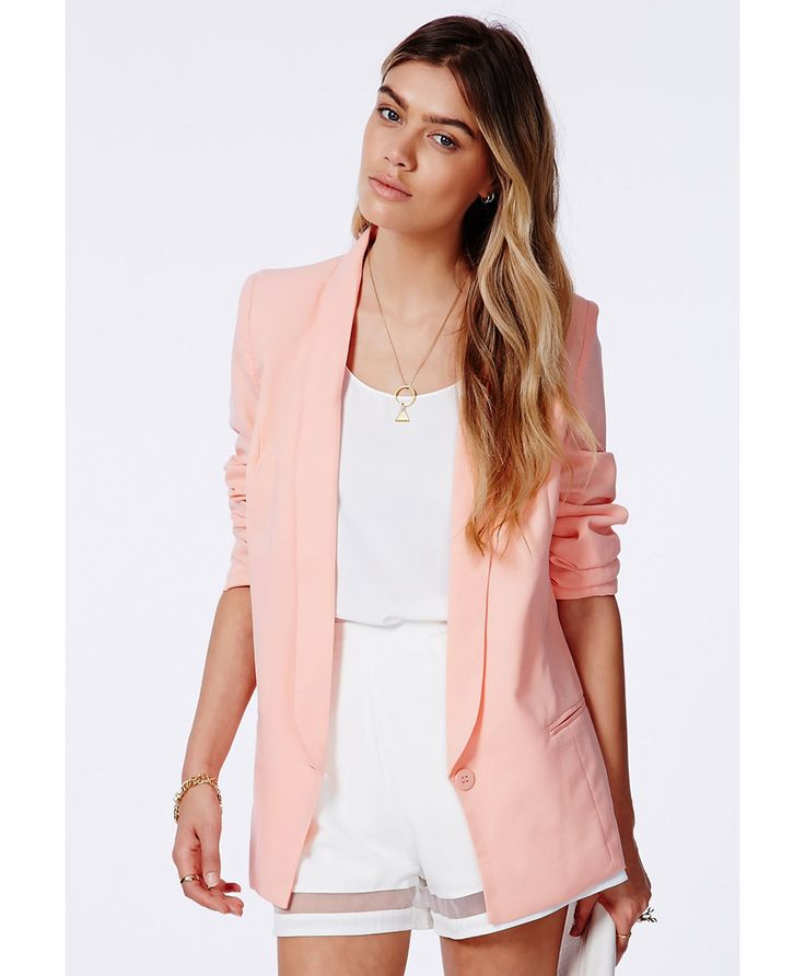 Shop Pink Long Sleeve Lapel Button Pocket Blazer online. Sheinside offers Pink Long Sleeve Lapel Button Pocket Blazer & more to fit your fashionable needs. Free Shipping Worldwide!