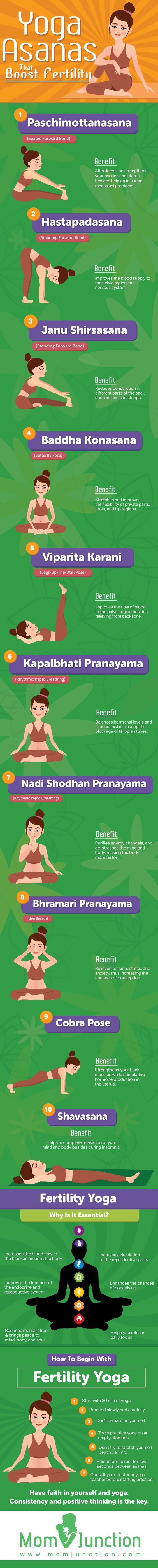 Practicing yoga during pregnancy balances emotional flux and hormone levels, so try these 14 yoga asanas when trying to conceive!
