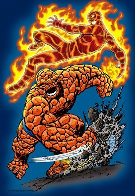 2013 Human Torch and The Thing commission art finished by  Ben Price !!!
