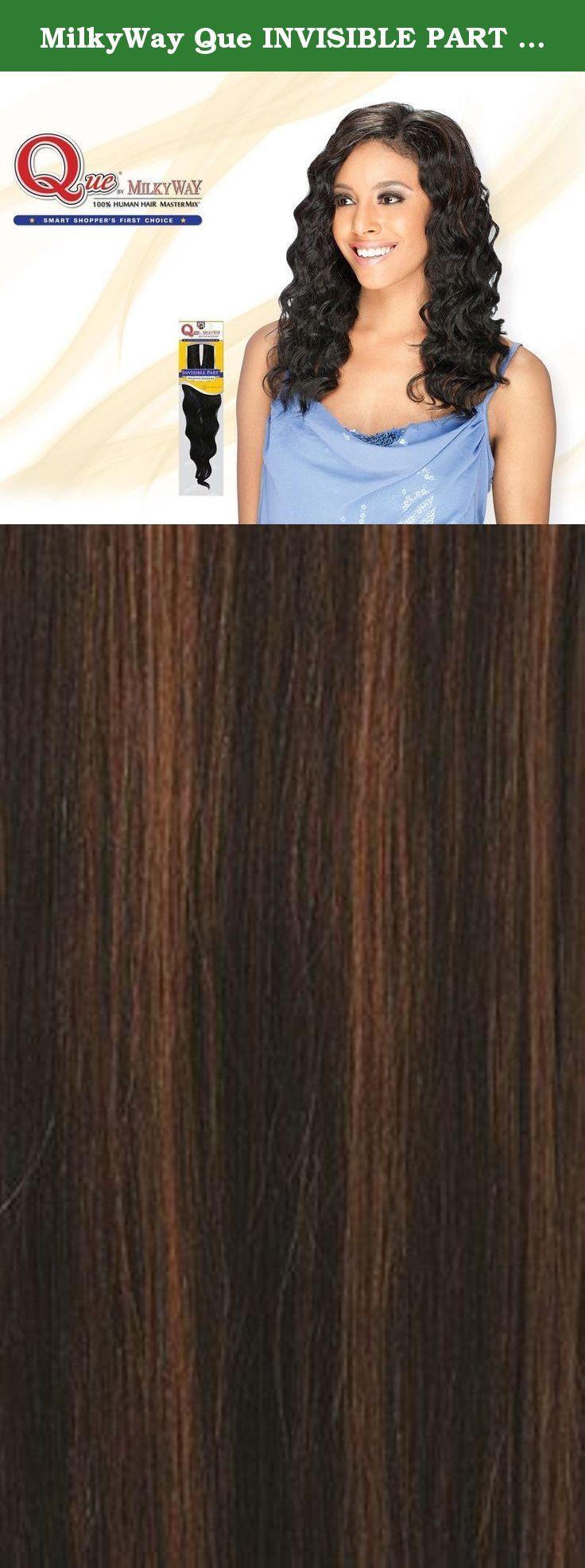 MilkyWay Que INVISIBLE PART WEAVING CLOSURE Human Hair MasterMix - LOOSE DEEP 10'' (P4/30). MilkyWay Que INVISIBLE PART WEAVING CLOSURE Human Hair MasterMix - LOOSE DEEP 10''.