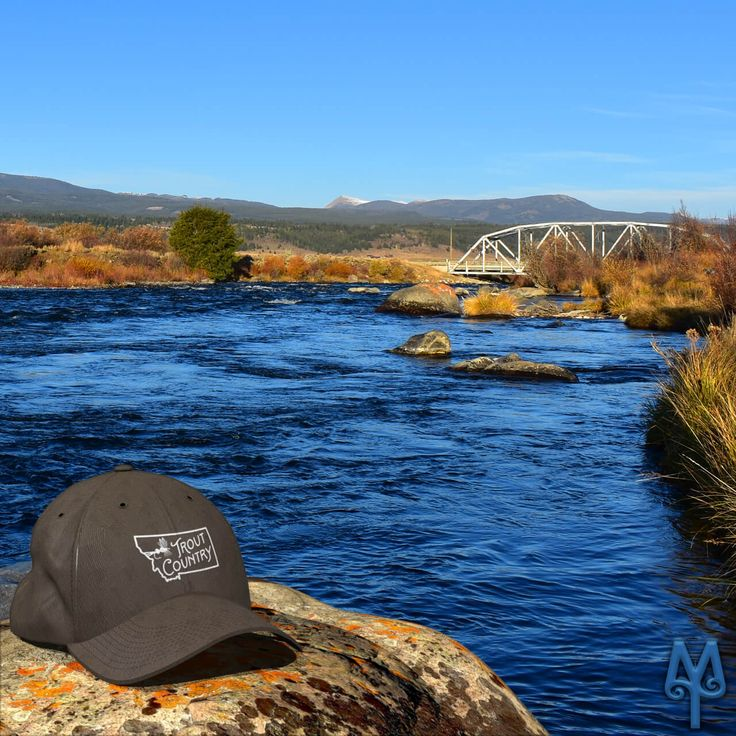 You know you have reached Trout Country and heaven when you fly fish the Madison River near Three Dollar Bridge. Buy a trophy baseball cap that you can wear proudly as a reminder of your world class fly fishing trip in Big Sky Country. Buy one today! :)
