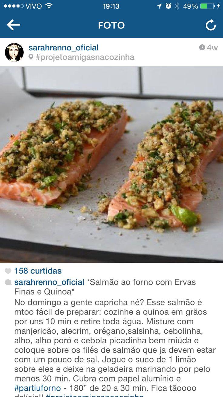 Salmao com quinoa