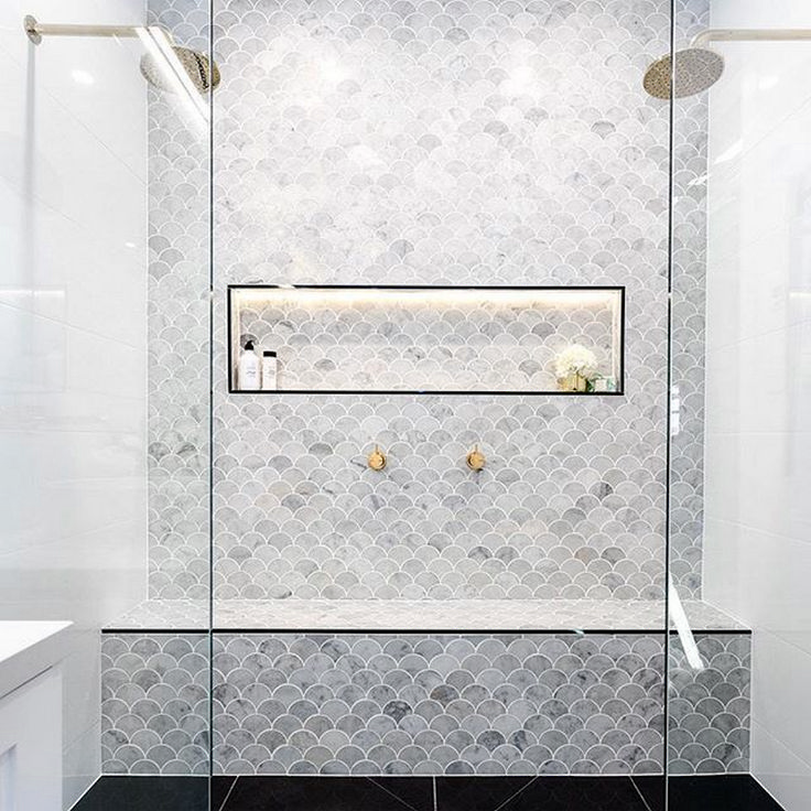 Best 25 fish bathroom ideas on pinterest for Fish scale tiles bathroom