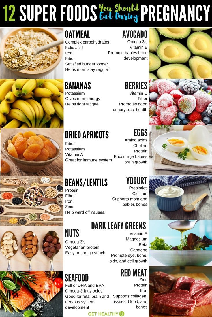 Try these 12 prenatal super foods packed with vitamins and nutrition for you and your baby during pregnancy!