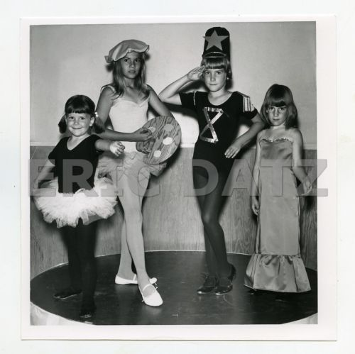 1960s-Photo-cute-little-girls-posing-in-costumes-fashion-models-m66334