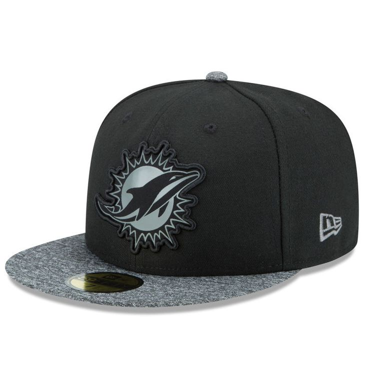 Miami Dolphins New Era NFL Collection 59FIFTY Fitted Hat - Black/Gray