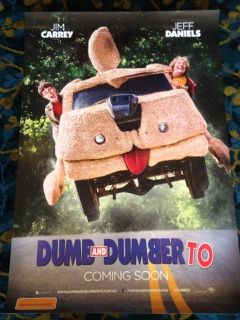 Authentic Dumb and Dumber To Movie Poster             (2014)  20 years after the dimwits set out on their first adventure, they head out in search of one of their long lost children in the hope of gaining a new kidney.Directors: Bobby Farrelly,  Peter Farrelly     Writers: Sean Anders               (screenplay),  Mike Cerrone,     Stars: Jim Carrey,  Jeff Daniels,  Kathleen Turner                           Plot Keywords: third part                     | sequel Genres:  Comedy