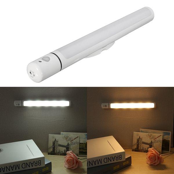 Battery Powered PIR Motion Sensor LED Cabinet Light Cupboard Wardrobe Bathroom Lamp