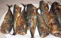 Baked mackerel with garlic sauce and parsley - diet Daniela, Moldovan-Transylvanian kitchen
