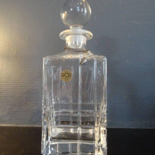 Kristallen whiskey karaf van Royal Chrystal Rock uit Italie