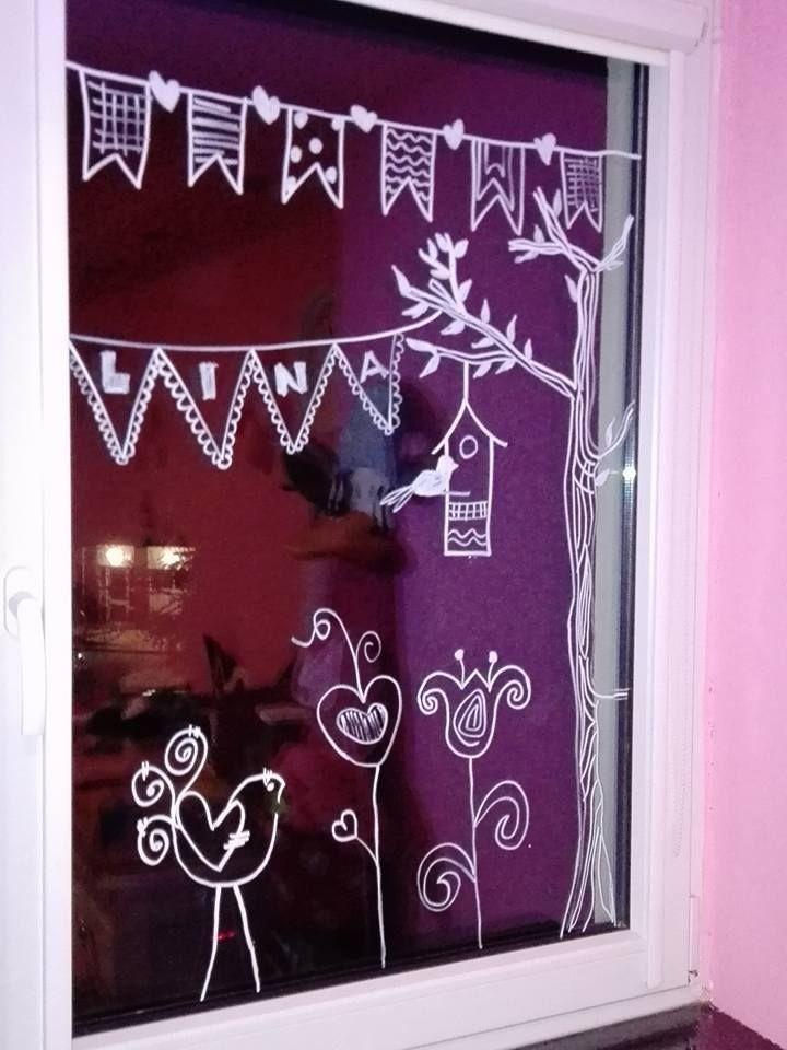 Fenstermalerei Kreidemaler Kinder