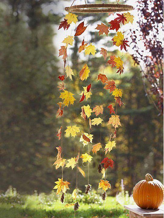 17 Fantasztikus őszi dekorációs ötlet levelekből ~ Készítsd Otthon