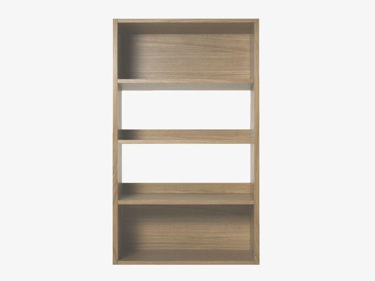 Low Wide White Bookcase