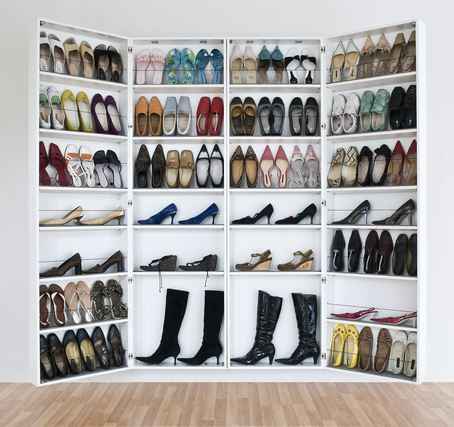 Hidden shoe closet? Innis might prefer this to my display options...