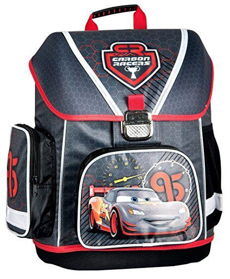 688ca76708285 Disney Cars Schulranzen Jungen 1 Klasse Tornister Schulrucksack Schultasche  SET 5 teilig für Grundschule super leicht - Einschulung Gesc…