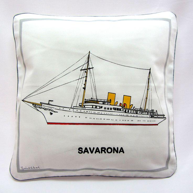 Savarona Yastık / Marin Dekorasyon, Ev Dekorasyon, Tekne Dekorasyon  / Savarona Pillow, Marin decorations, home decorations, yacht decorations  http://www.nyn-yucelerkal.com/asp/group/15/Istanbul-Vapurlari