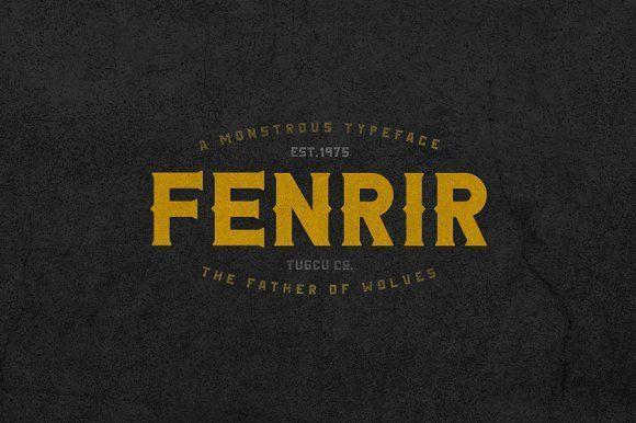 Fenrir Typeface by Tugcu Design Co. on @creativemarket
