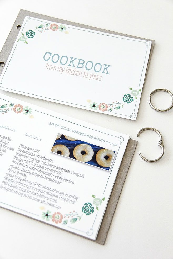 Free Template: DIY Family Recipe Cookbook Craft - Perfect DIY Printable Gift! #CMYK #MyPrintly