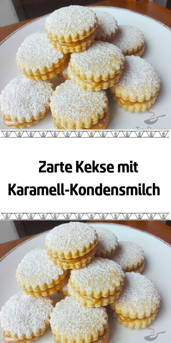 Zarte Kekse mit Karamell-Kondensmilch