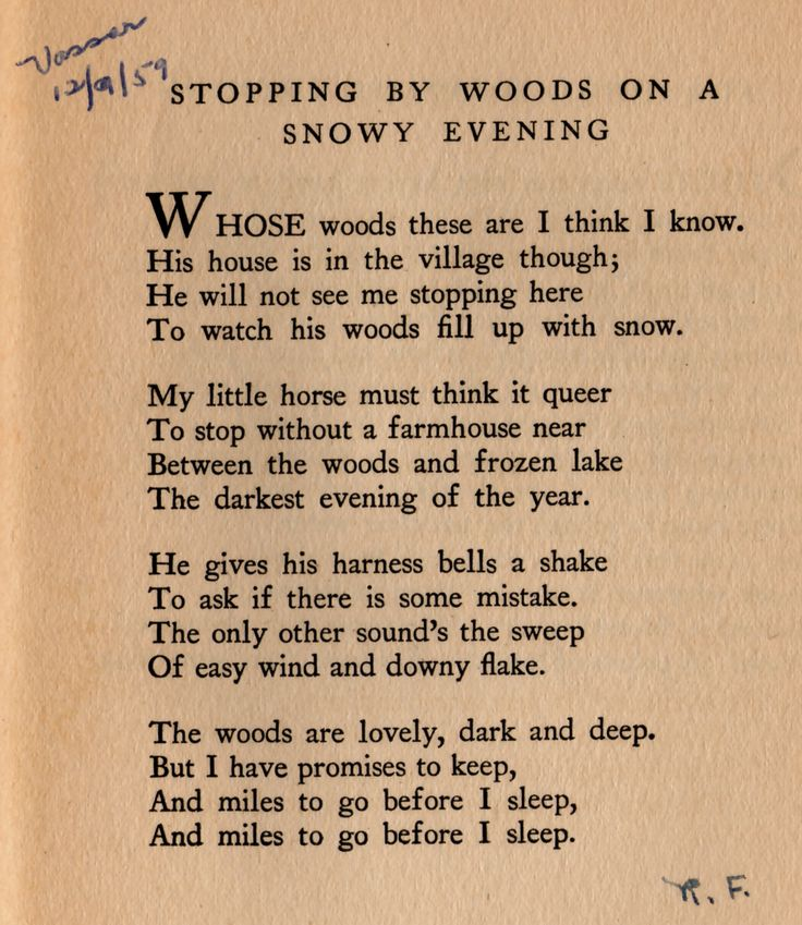 Robert Frost's Stopping by Woods on a Snowy Evening