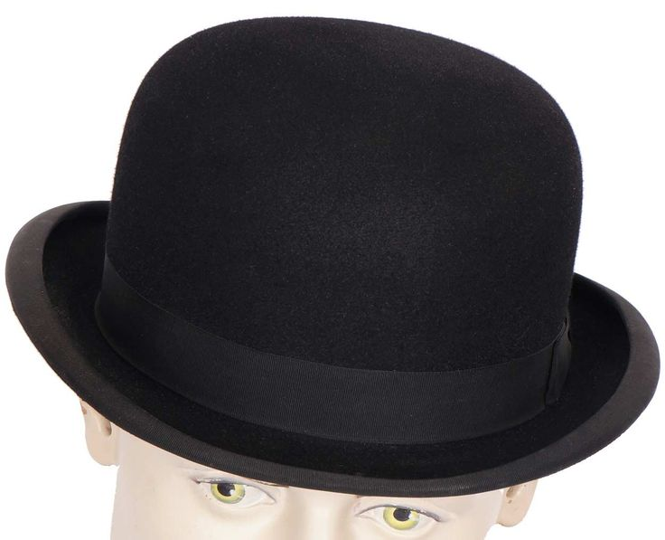 Vintage Mens English Bowler Hat Derby Moss Bros Covent Garden Large 7