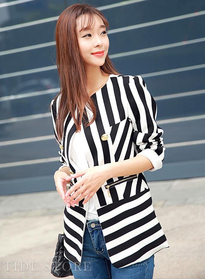 Luxury New Arrival Korean Style Slim Long Sleeves Long Overcoat: tidestore.com