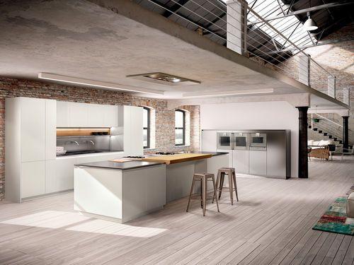 Moderne Küche / Holz / Kochinsel / Lackiert AMBRA Lineaquattro