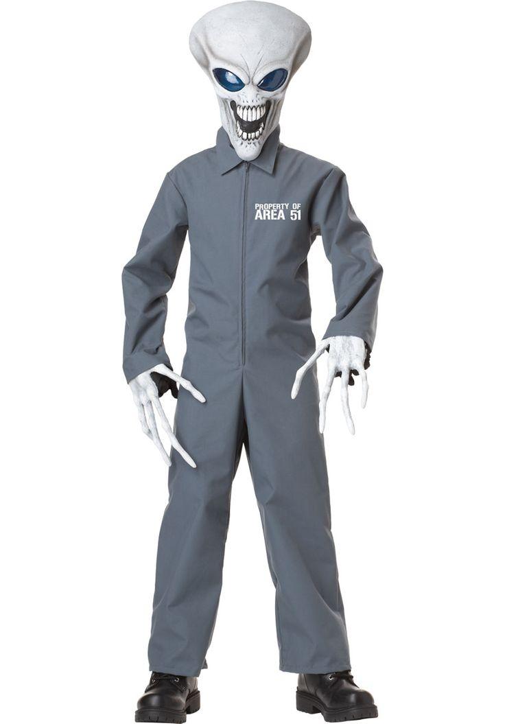 Property of Area 51 Kids Costume, Alien Fancy Dress - Child Halloween Costumes at Escapade