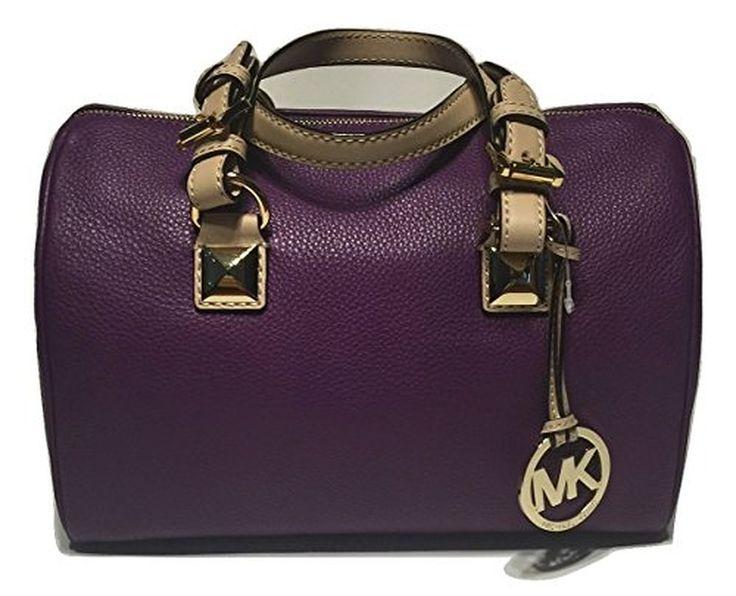 Michael Kors MD Grayson Leather Satchel Handbag