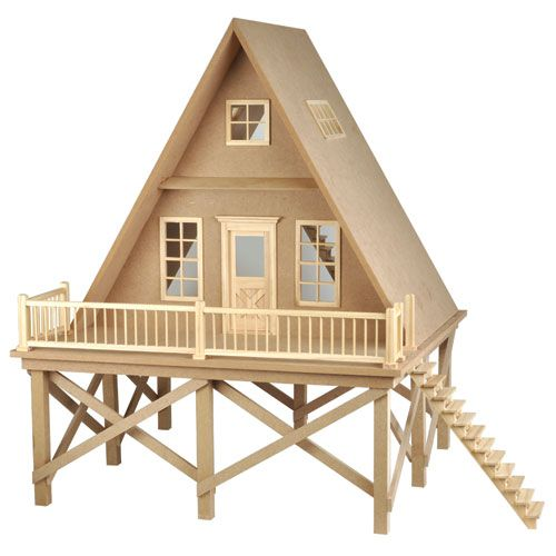 1000 images about a frame dollhouse on pinterest for Chalet cabin kits