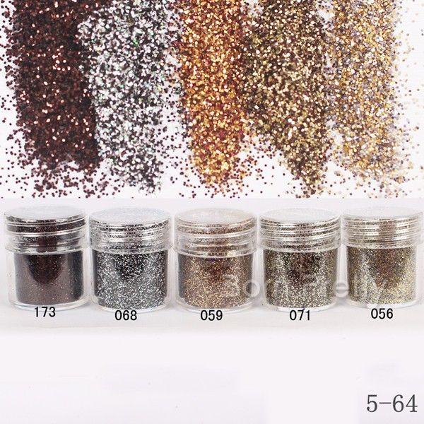 $1.96 1Box 10ml Brown Coffee Glitter Powder Super Fine Powder Sheets Tips Nail Art Decoration - BornPrettyStore.com