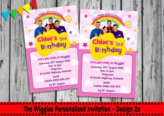 The WIGGLES INVITATION Personalised by LollipopPartyDesigns