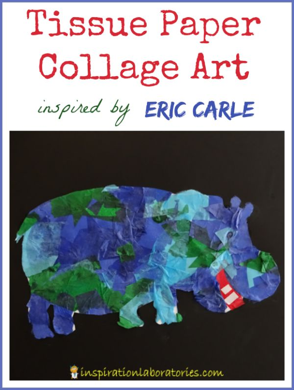 Seidenpapierkunst Inspiriert von Eric Carle