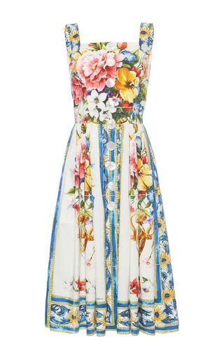 Medium dolce gabbana print printed cotton dress