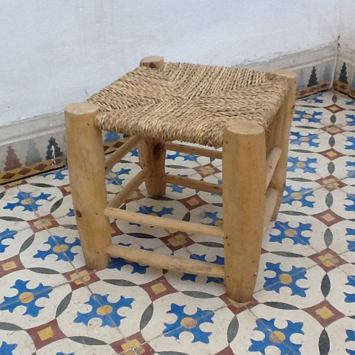 Moroccan stool, Moroccan bench, Berber stool,straw stool,Moroccan decor, Marrakech style, Moroccan seat, Berber pouf, Moroccan pouf by moroccanmood on Etsy