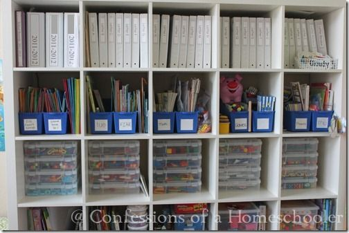 Great blog post on homeschool supplies and organization ideas... will come in handy when we reach Kindergarten/1st grade age