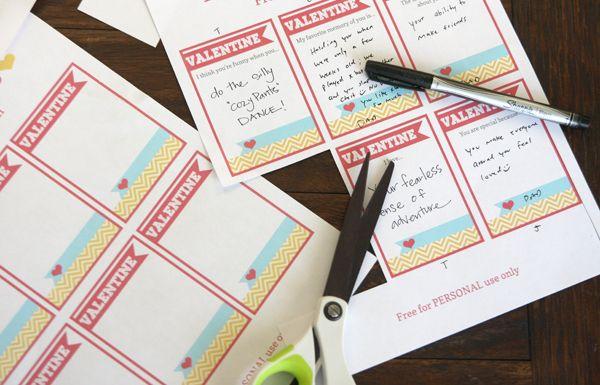 Printable Valentine Love Notes