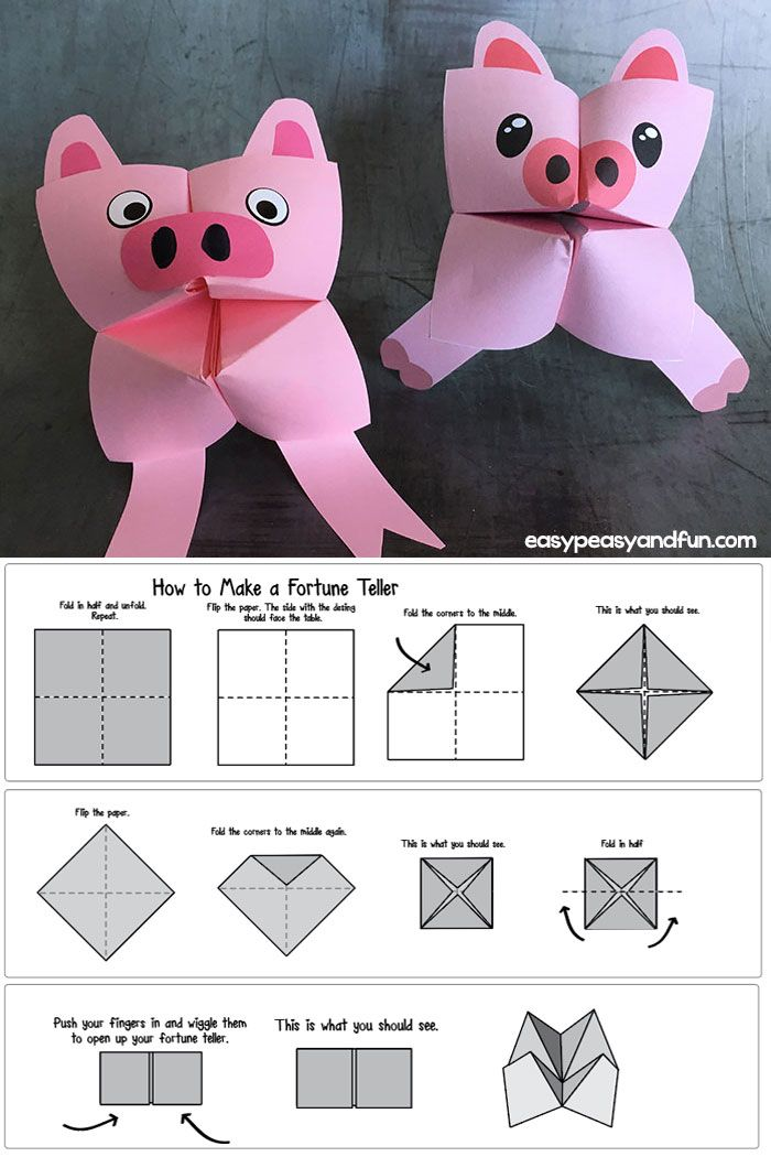 DIY Craft: Coolest little fortune tellers. Transform your DIY chatterbox into a wonderful puppet kids can play with. Easiest origami idea ever