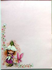 Vtg 1982 Victoria Plum Stationery W N Sharpe/23 sheets 7 envelopes