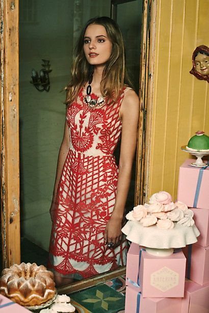 Sugared Ruby Shift Dress #anthrofave #anthropologie #women #fashion