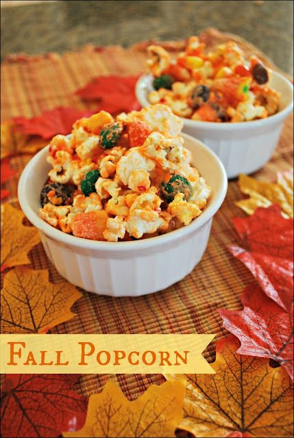 Fall Popcorn - You only need a few minutes to turn regular popcorn is this delicious Fall treat.