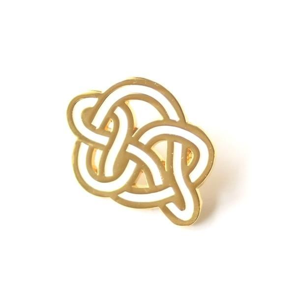 Knotted Up (white) - Pin by Weekender Supply