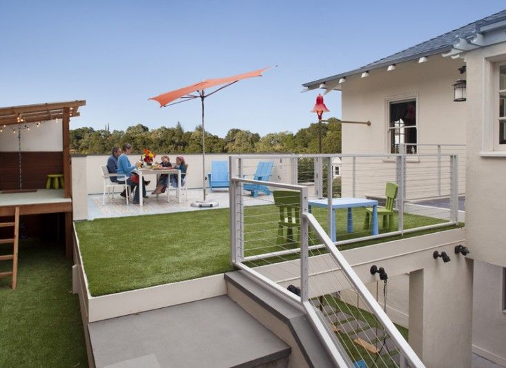 Outdoor roof terrace artifical turf carport by jeff king for Carport deck