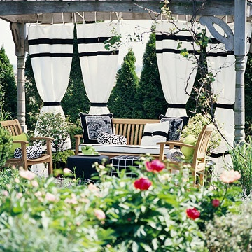 create a landscape that looks good all year long with these creative ideas for incorporating a pergola into your yard...: Garden Ideas, Creative Ideas, Garden Outdoor, Pergolas, Dream, Gardening, Backyard, Fabric
