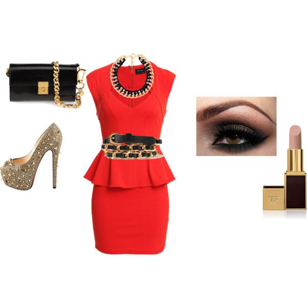 """peplum outfit"" by cheli818 on Polyvore"