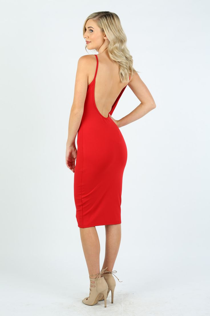 Lost Muse - Red Midi Dress
